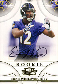 Ernie Wheelwright IV Signed 2008 Donruss Rookie Card