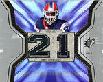 Willis McGahee Upper Deck 2007 SPX Game-Used Winning Materials Card