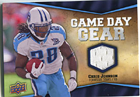 Chris Johnson 2009 Upper Deck Jersey Patch Card