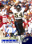Duane Clemons Autographed / Signed 1996 Classic Football Card