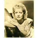 Gladys George Autographed / Signed 8x10 Photo (James Spence)