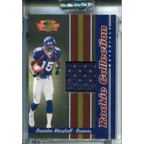 Brandon Marshall Unsigned 2006 Donruss Threads Rookie Card