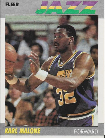 Karl Malone 1987 Fleer Card