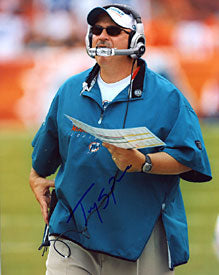 Tony Sparano Autographed / Signed Miami Dolphins 8x10 Photo