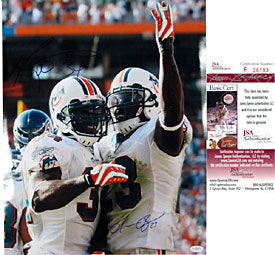Ronnie Brown & Ricky Williams Autographed / Signed 16x20 Photo (James Spence)