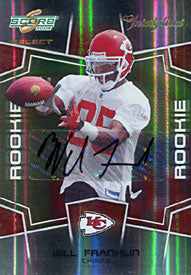 Will Franklyn Signed 2008 Score Select Rookie Card