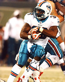 Lousaka Polite Autographed / Signed Miami Dolphins Running With the Ball 8x10 Photo