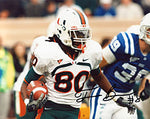 Travis Benjamin Autographed / Signed Miami Hurricanes 8x10 Photo
