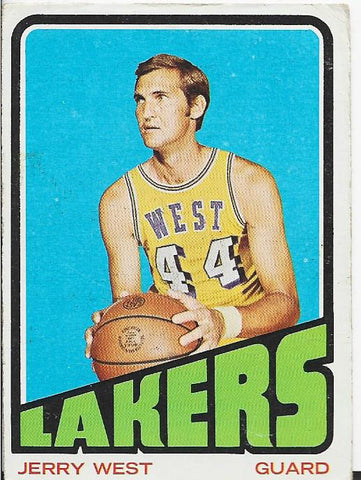 Jerry West 1972 Topps Card
