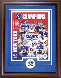 New York Giants Framed NFC Championship Collage 8x10 Photo