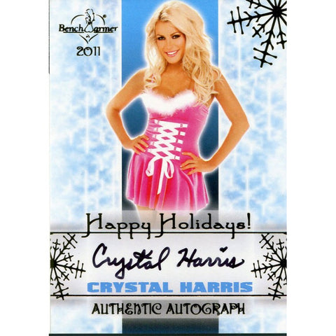 Crystal Harris Autographed 2011 Bench Warmers Card
