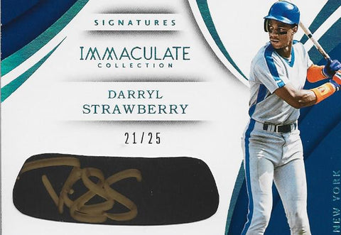 Darryl Strawberry Autographed 2018 Panini Card #21/25