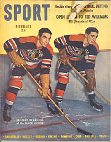 Sport Magazine February 1947 Doug and Max Bentley Chicago Black Hawks