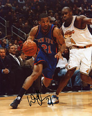 Wilson Chandler Autographed / Signed New York Knicks Basketball 8x10 Photo