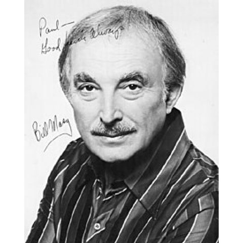 Bill Masy Autographed / Signed Black & White Celebrity 8x10 Photo