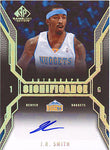 J.R. Smith Autographed / Signed 2007 Upper Deck SP Signifigance Card #SI-JS