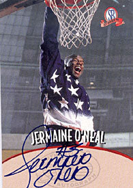Jermaine O'neal Autographed / Signed 1997 Score Board Basketball Card