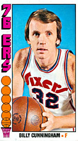 Billy Cunningham Unsigned Topps Basketball Card