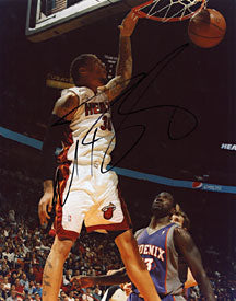 Michael Beasley Autographed / Signed Miami Heat Basketball 8x10 Photo