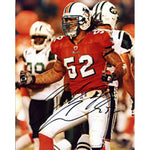 Channing Crowder Autographed / Signed Miami Dolphins vs Jets 8x10 Photo