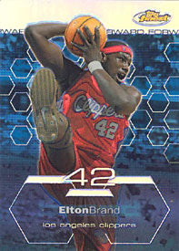 Elton Brand Topps Finest Blue Refractor Card - Limited Edition 157/250