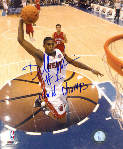 Dorell Wright World Champs Autographed/Signed 8x10 Photo