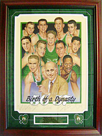 Birth of a Dynasty Autographed / Signed Framed Litho