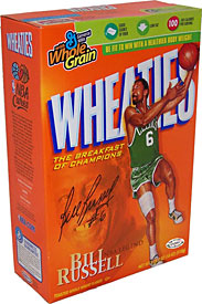 Bill Russell Autographed / Signed Wheaties Cereal Box