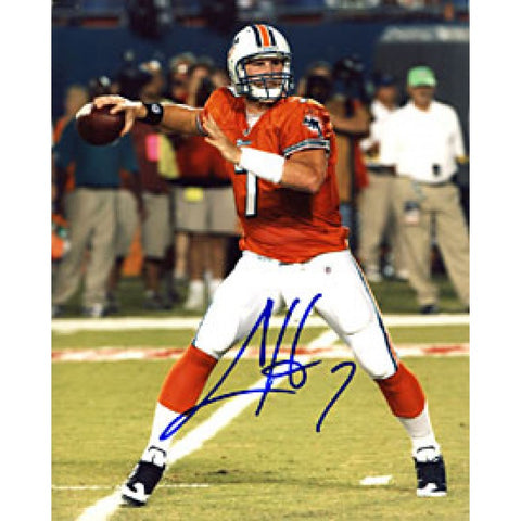 Chad Henne Autographed / Signed Looking to Throw 8x10 Photo - Miami Dolphins