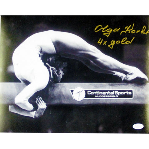 "Olga Korbut ""4x Gold"" Autographed 11x14 Photo"
