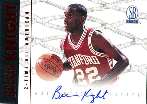 Brevin Knight Autographed 1997 Score Card