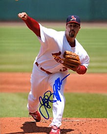 Jeff Suppan Autographed / Signed Pitching 8x10 Photo