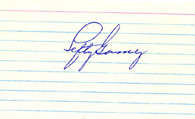 Lefty Gomez Autographed / Signed 3x5 Card