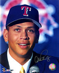 Alex Rodriguez Autographed / Signed At Press Conference Texas Rangers 8x10 Photo (JSA)