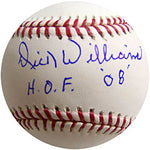 Dick Williams H.O.F. 08 Autographed / Signed Baseball - Philadelphia Phillies