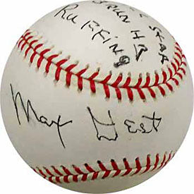 Max West Autographed / Signed Baseball (JSA)