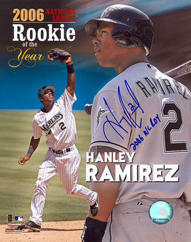 Hanley Ramirez ROY 2006 Autographed / Signed Florida Marlins Baseball 8x10 Photo