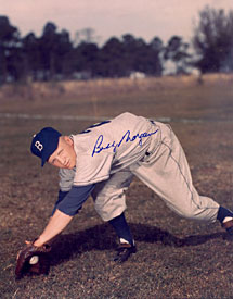 Bobby Morgan Autographed / Signed Brooklyn Dodgers 8x10 Photo
