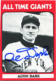 Alvin Dark Autographed/Signed Card