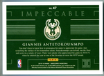 Giannis Antetokounmpo 2018-19 Panini Impeccable 1 Troy Ounce Silver Card 15/22