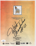 Wilt Chamberlain Autographed Rising Star Shoot-Out Program (JSA)