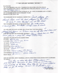 Roy Sievers Autographed Hand Filled Out Survey Page (JSA)