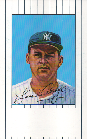 Luis Arroyo Autographed 1961 New York Yankees Ron Lewis Card