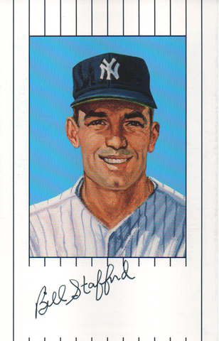 Bill Stafford Autographed 1961 New York Yankees Ron Lewis Card