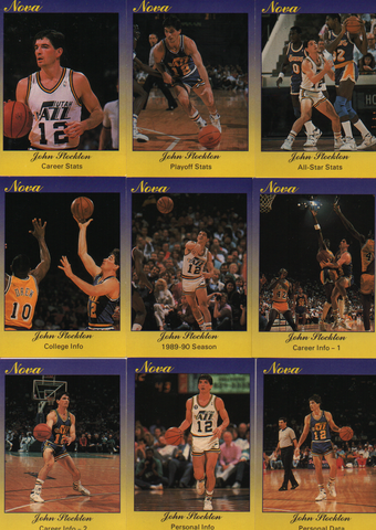 John Stockton 1990 Star NOVA Card Set