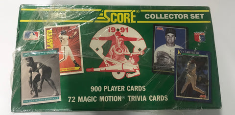 1991 Score Baseball Collectors Set Hobby Box Partially Factory Sealed