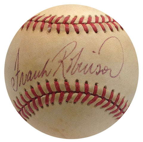 Frank Robinson Autographed Official American League Baseball