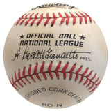 Lou Brock Autographed Official National League Baseball