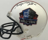 Ralph Wilson Jr. Autographed Hall of Fame Mini Helmet (JSA)