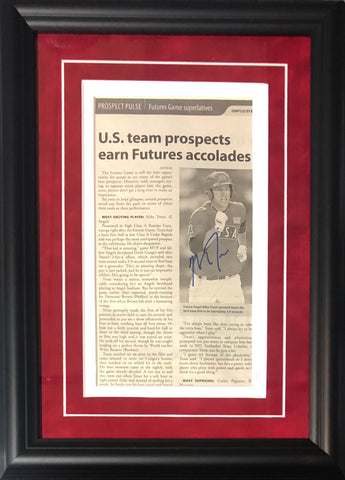 Mike Trout Autographed Framed Futures Game Newspaper Page (JSA)